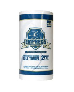 "Empress Kitchen Roll Towel 8""x11"" 2ply white (30/80sheet/cs)"