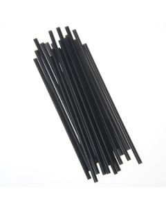 "Empress Unwrapped Semi Slim Straw/Stirrer 7.75"" Black (5000/cs)"