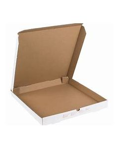 "Plain White Pizza Box 14""Pizza Box B-Flute (50/pcs)"