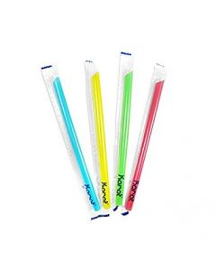 Karat Large Wrapped Straw, Mixed Color, Solid (1600/cs)