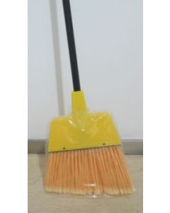 ABCO Large Angle Broom W/Plastic Cap Flagged Yellow Bristle Angle Broom 1/pcs
