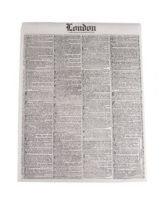 "Bagcraft London Newspaper Paper Sandwich Wrap 12""x16"" (4000/cs)"