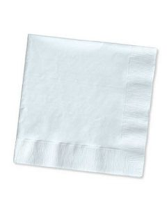 1-Ply White Beverage / Cocktail Napkin - 4000 / Case