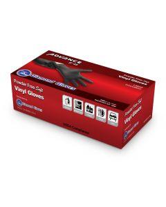 Advance Powder Free Extra Large Black Vinyl Glove (10/100/cs)
