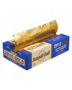 "9 x 10.75"" Gold Interfolded Pop-up Foil Sheet (2400/cs)"
