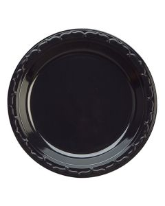 "Black 7"" Plastic Plate High Impact Silhouette (10/100/cs)"