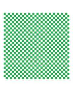 Dry Wax Tray 12x12 - Green Checker (5000/cs)
