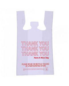 THANK YOU T-SAK Bag 12-MIC PLAS 11.5X6.5X21 WHITE (1000/cs)