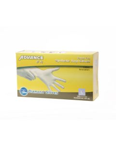 Diamond Gloves Powder-Free Stretch Vinyl Non-Medical M(10/100)(1000/cs)